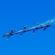 Blue Angels flyovers during Fleet Week in San Francisco
