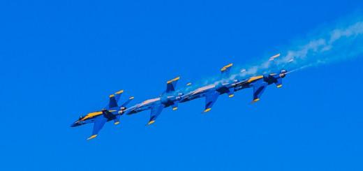 Blue Angels flyovers during Fleet Week in San Francisco