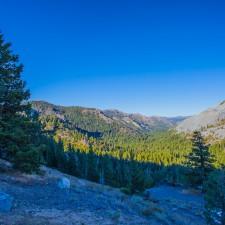 En rout through Sierra Nevada