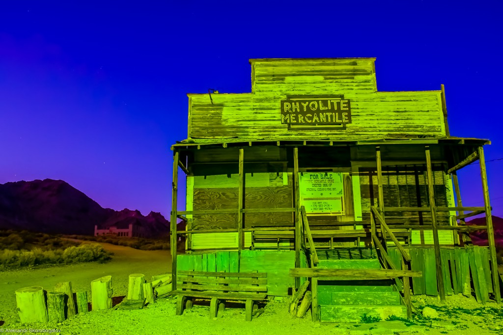 Rhyolite Mercantile, a ghost store for sale