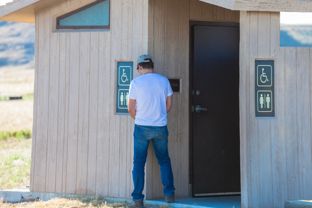 Comfortable restroom in the American Wilderness
