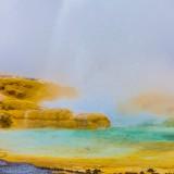 Colorful geyser