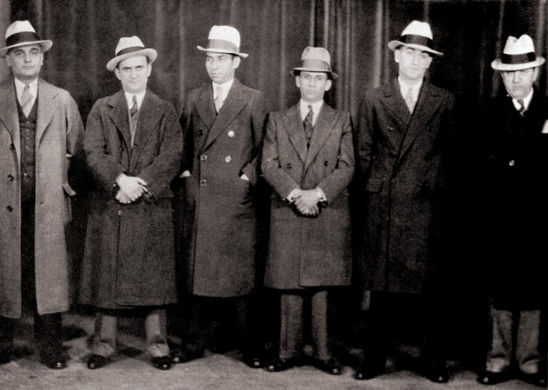 Great son of Grodno, legendary megamobster Meyer Lansky 3rd from right